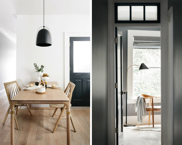 Cotton & Clay - The Art of Warm Minimalism - Black and timber accents