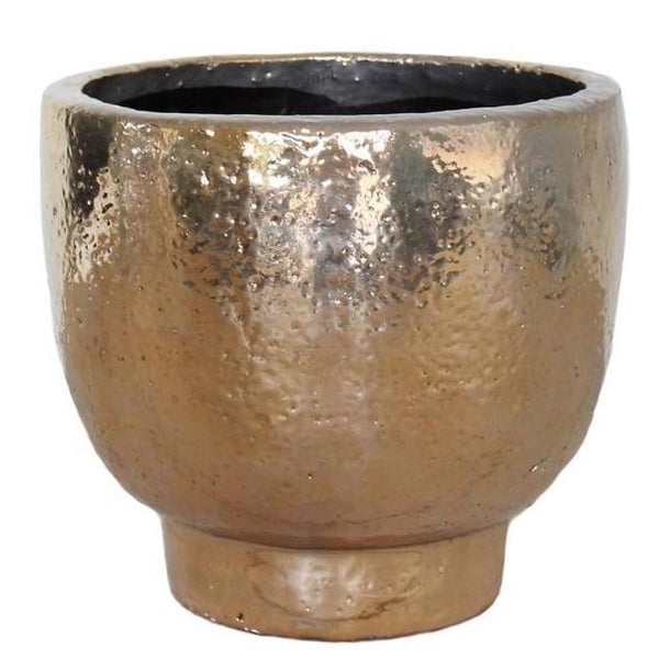 Cotton & Clay - Large Shino Planter - Gold