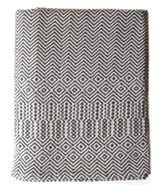 Cotton & Clay Bakuba Throw - Charcoal