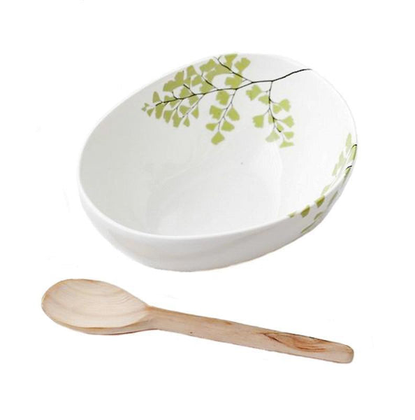 Cotton & Clay Bowl & Spoon - Fern
