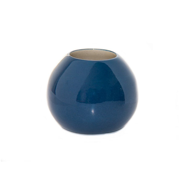 Cotton & Clay Ceramic Droplet Vase - Indigo Blue