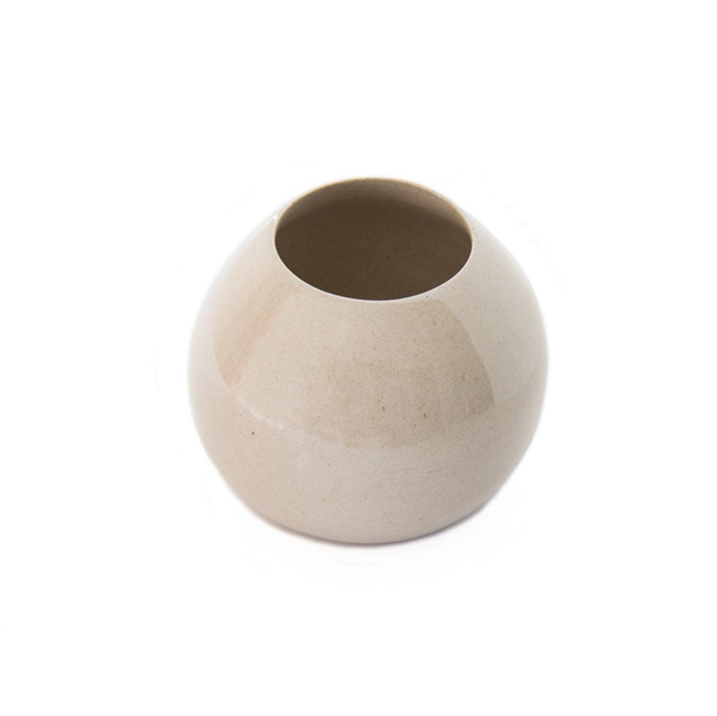 Cotton & Clay Ceramic Droplet Vase - Natural