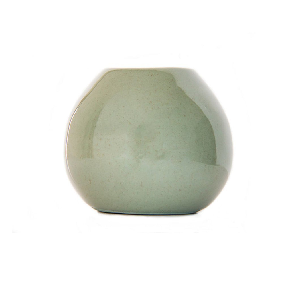 Cotton & Clay Ceramic Droplet Vase - Olive Green