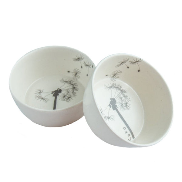 Cotton & Clay Dandelion Small Bowl - Matt White & Grey