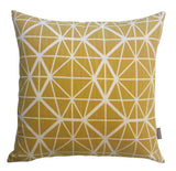 Cotton & Clay Facet Cushion Cover - Harvest on White