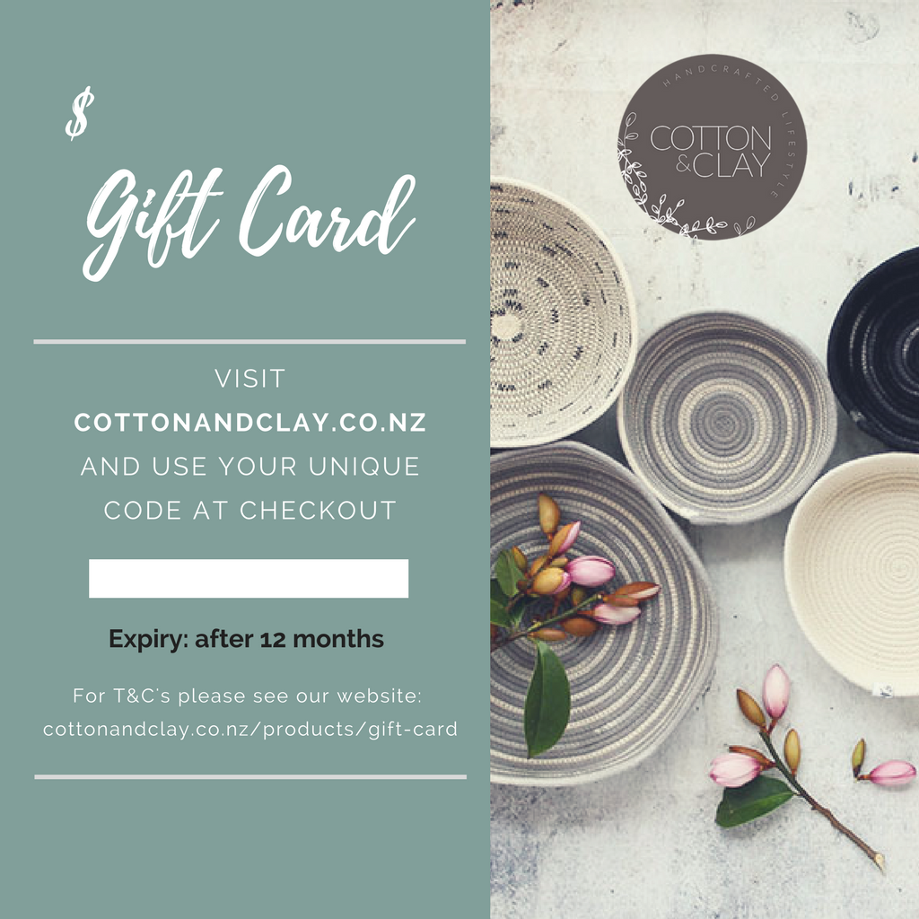 Cotton & Clay Gift Card