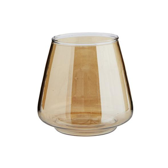 Cotton & Clay Glass Votive Candle Holder - Gold Lustre