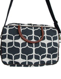 Cotton & Clay Graphic Laptop Bag - White & Black