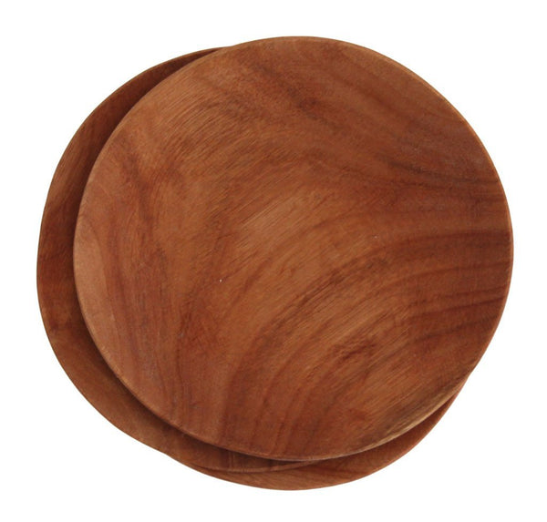 Cotton & Clay Hand Carved Wooden plate