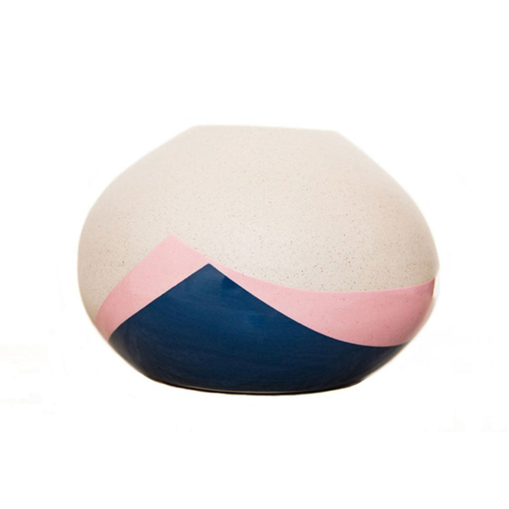 Cotton & Clay Handmade Ceramic Teardrop Vase - Pink & Blue