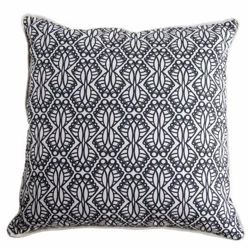 Cotton & Clay Jembe Cushion Cover - Black & Natural