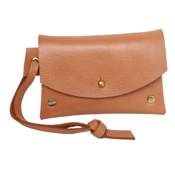 Cotton & Clay Leather Card Pouch - Tan