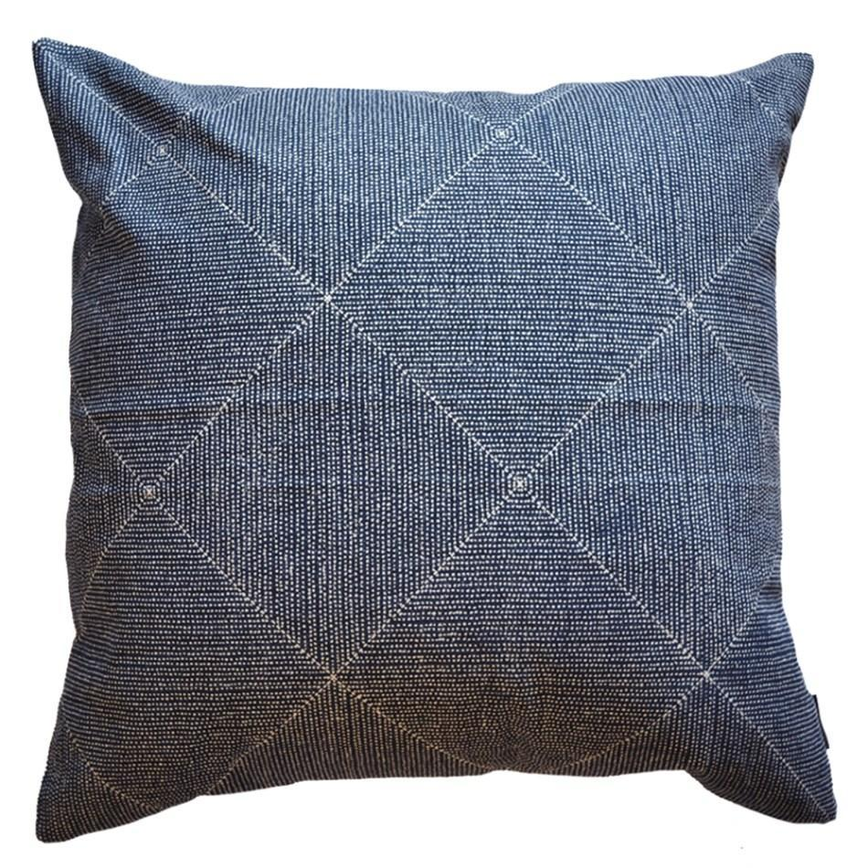 Cotton & Clay Louis Cushion Cover - Indigo