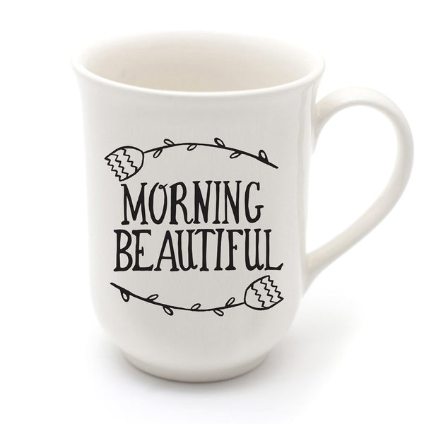 Cotton & Clay Morning Beautiful Mug - Black and White