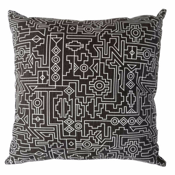 Cotton & Clay Ndemetric Cushion Cover - Black & White
