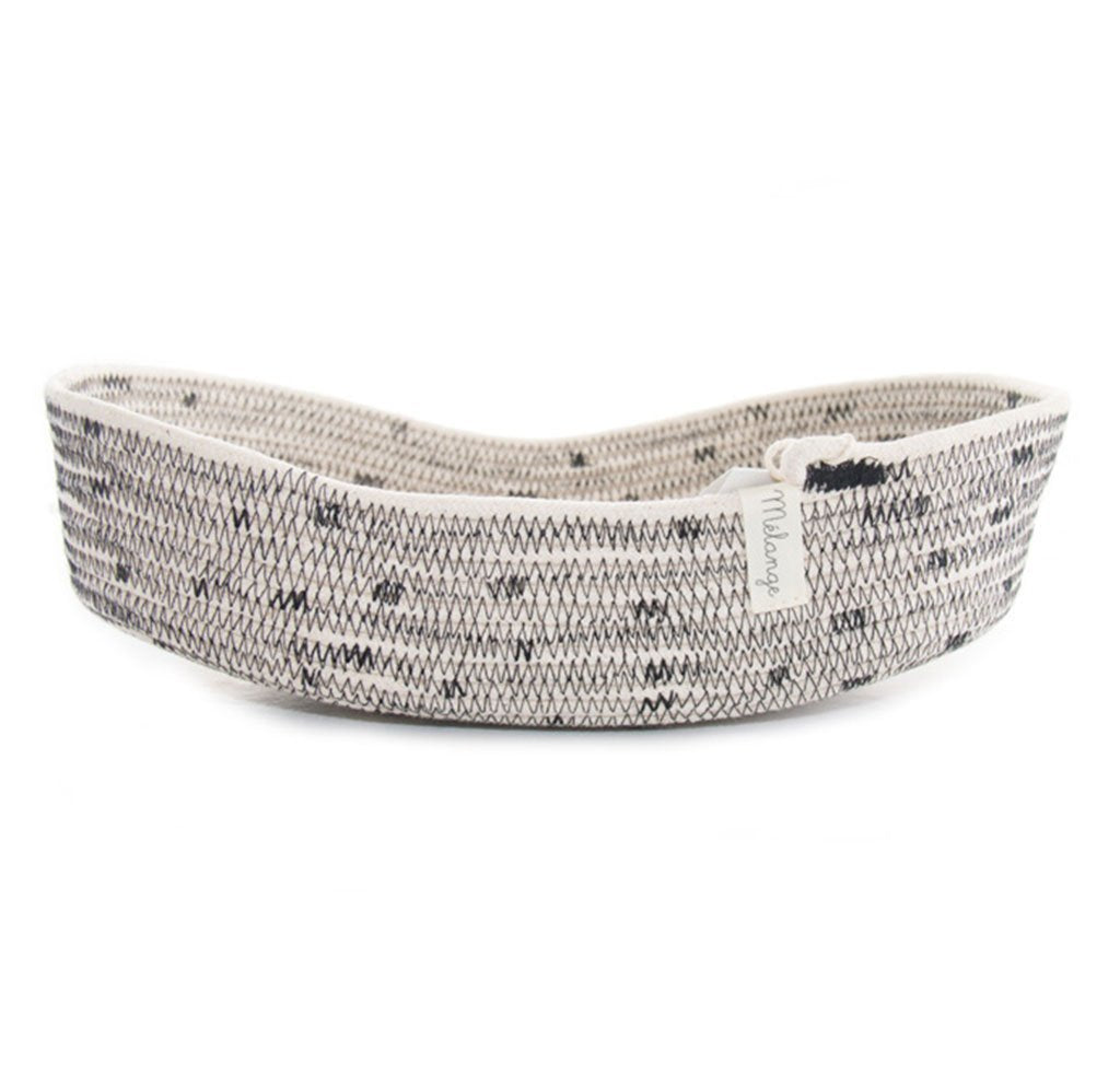 Cotton & Clay Oval Basket - Licorice