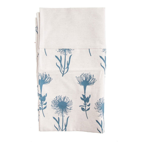 Cotton & Clay Pincushion Table Runner - Teal & Cream