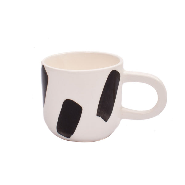 Cotton & Clay - Strokes Mug - Black & White