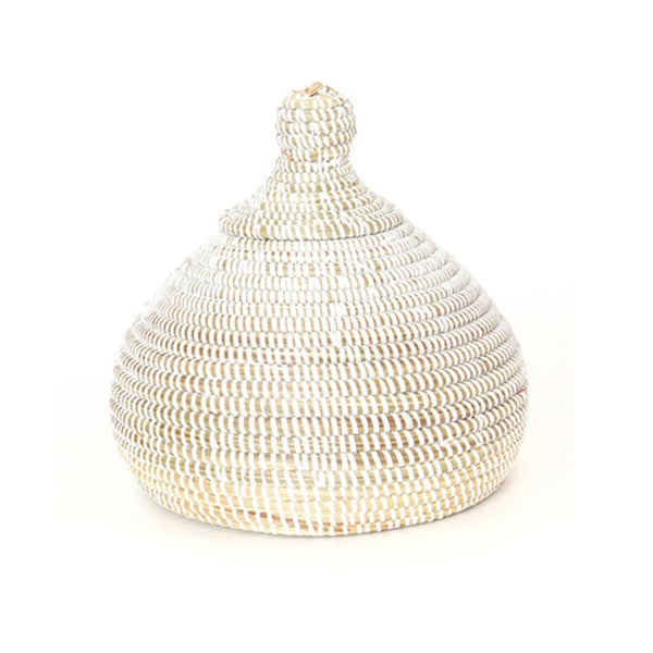Cotton & Clay White Lidded Kiss Basket