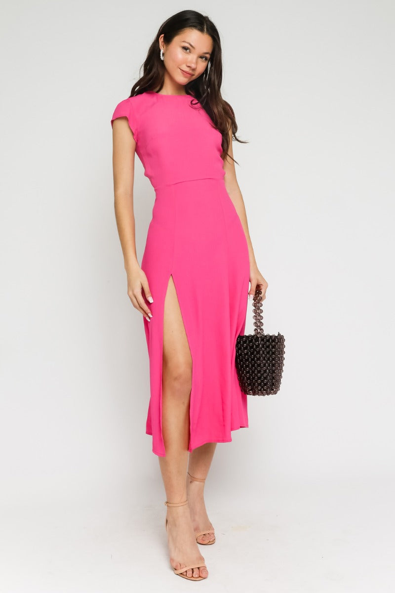 Melanie Open Back Midi Dress