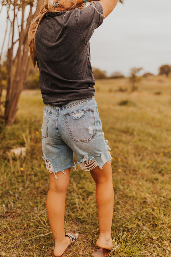 Distressed Knee Shorts