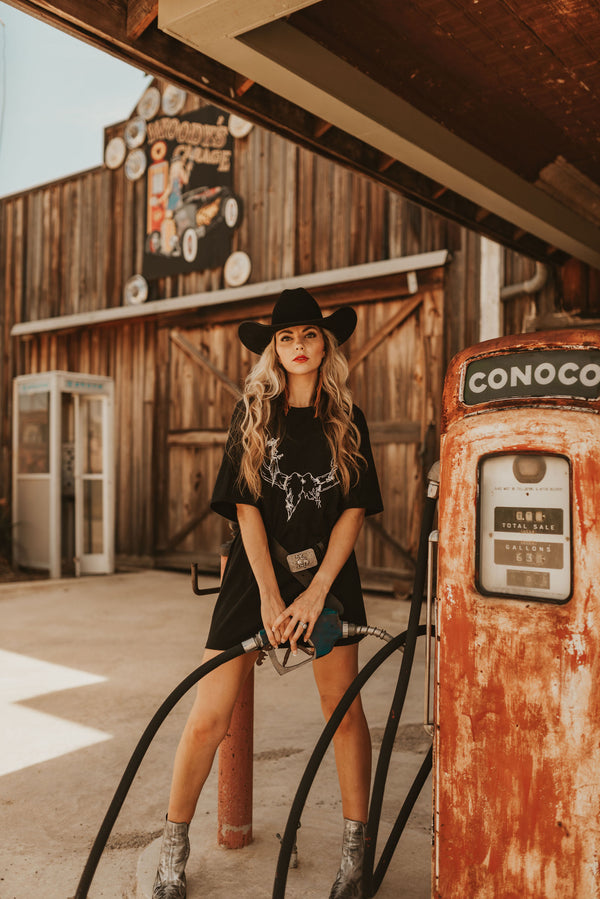 Old West T-Shirt Dress