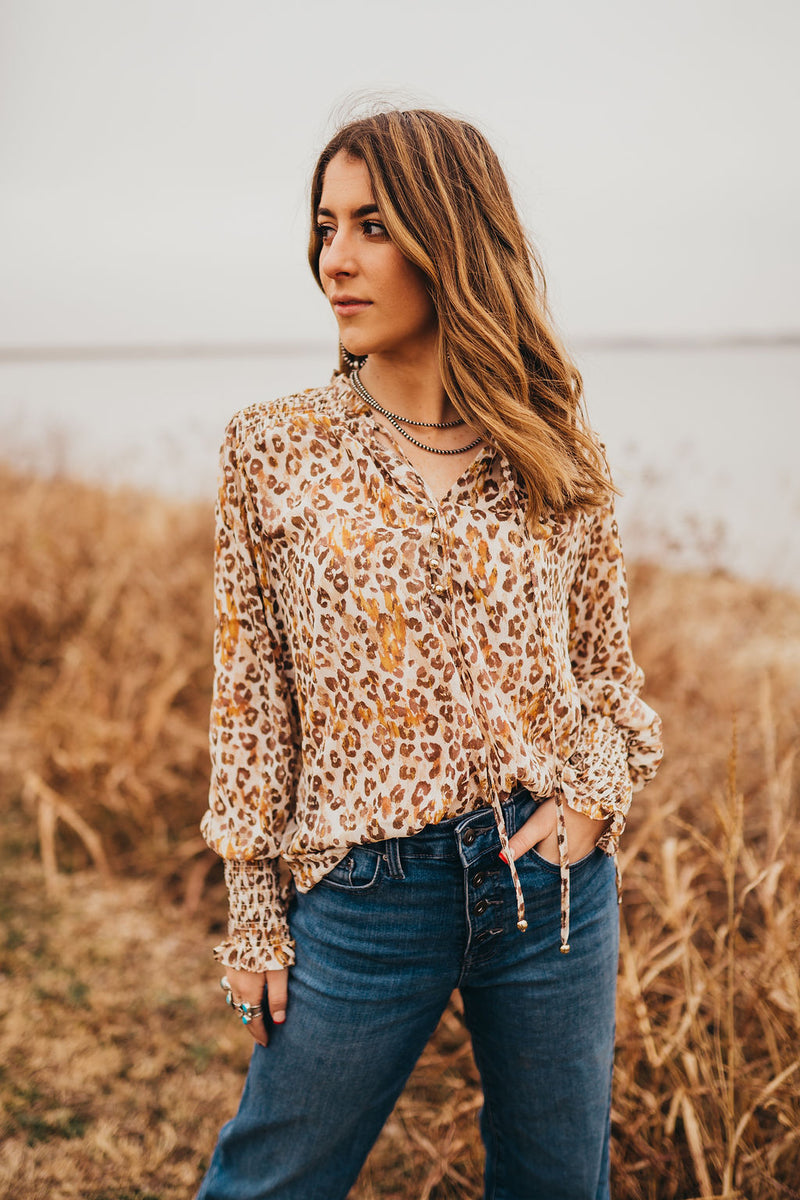 Lila Leopard Top