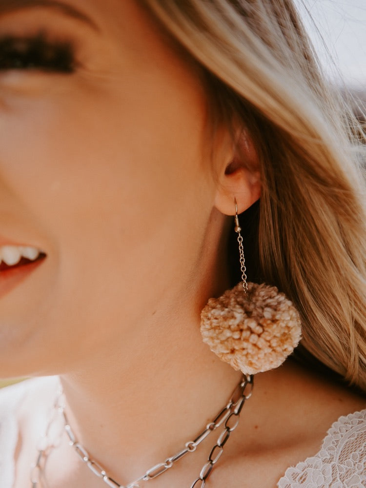Mini Pom Earrings