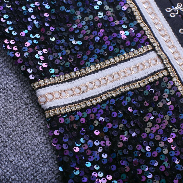 Cheap Women Blue Sequins Bodycon Dress house of cb