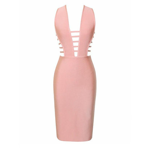 Cheap womens nude peach bandage dresses House of CB