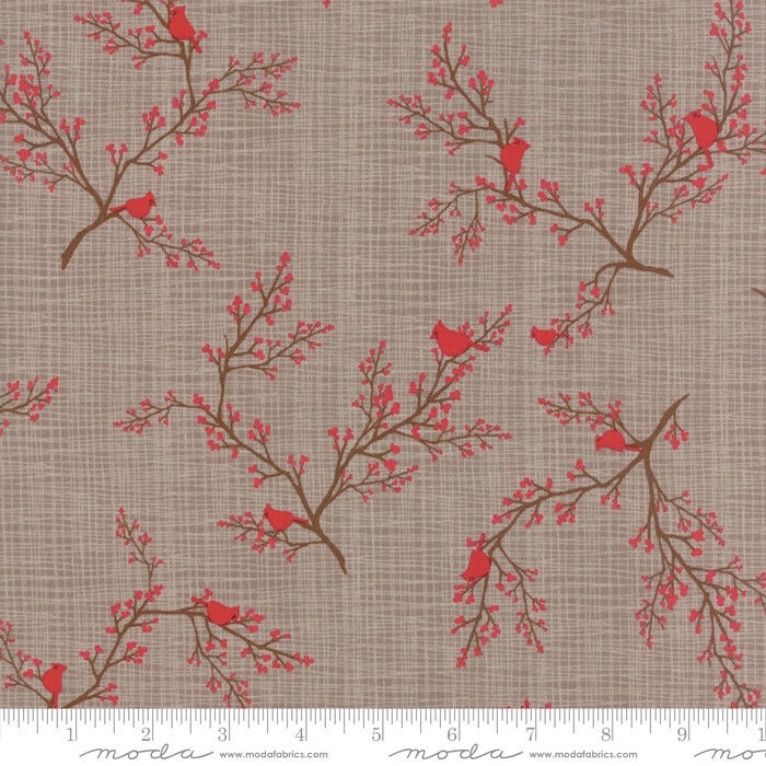 Return to Winter Lane by Kate & Birdie, Cardinals in Berry Branches