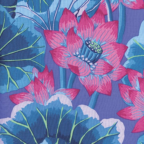 Collective Classics by Kaffe Fassett, Lake Blossoms - Blue