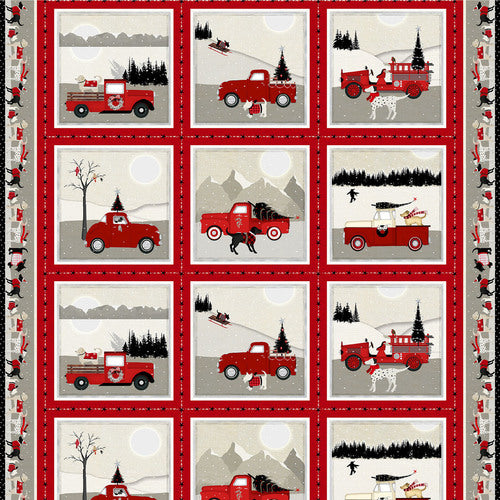 Holiday Road Trip, Truck Panel Red Gray