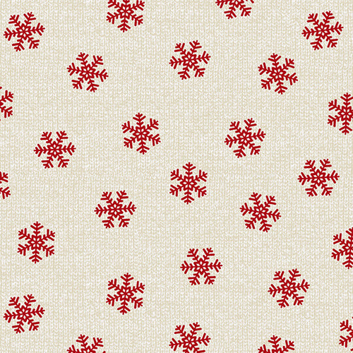 Holiday Road Trip, Snowflakes Beige