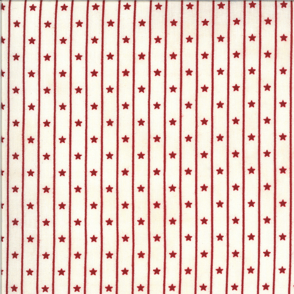 Primitive Gatherings American Gathering - Cream/Red Star Row 49126 11 by Moda