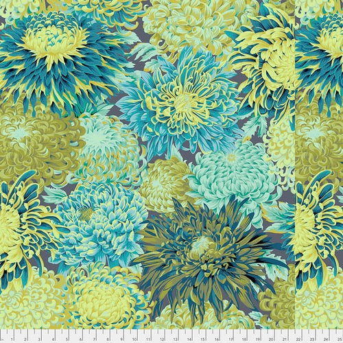 Collective Classics by Kaffe Fassett, Japanese Chrysanthemum - Forest