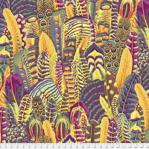 Colletive Stash by Kaffe Fassett, Feathers - Gold