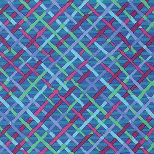 Collective Classics by Kaffe Fassett, Mad Plaid - Cobalt