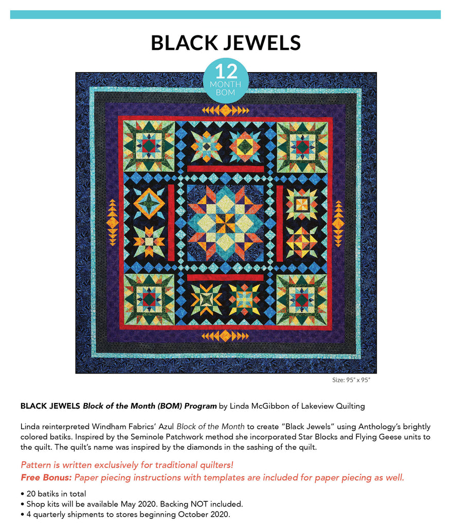 Black Jewel Block of the Month