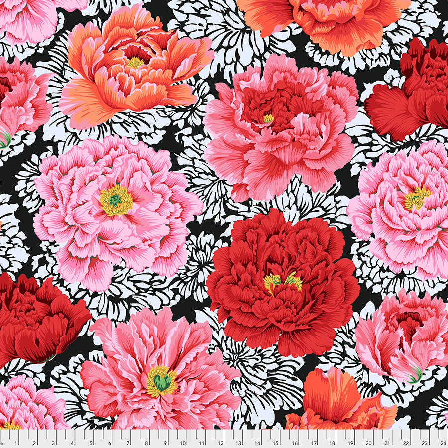 Kaffe Collective February 2021, BROCADE PEONY PWPJ062.CRIMSON