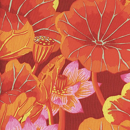 Collective Classics by Kaffe Fassett, Lake Blossoms - Red