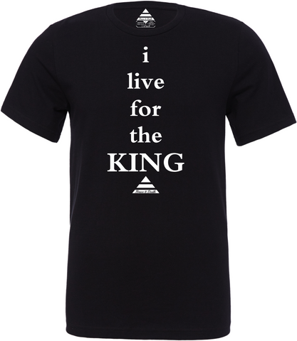 Live For The King Black Tee