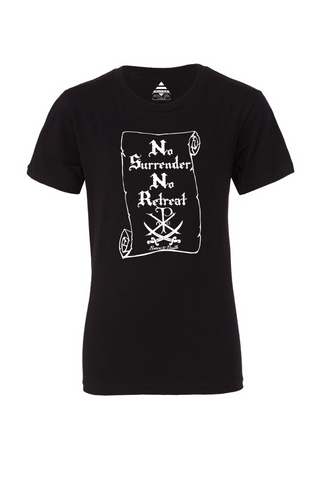 "Youth- ""No Surrender"" Black Tee"