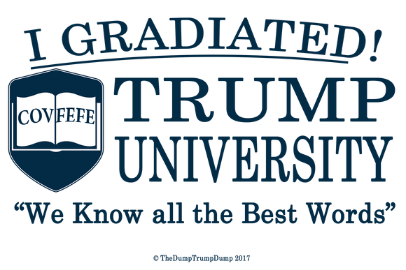 I Gradiated Trump University - The Dump Trump Dump Bumper Sticker