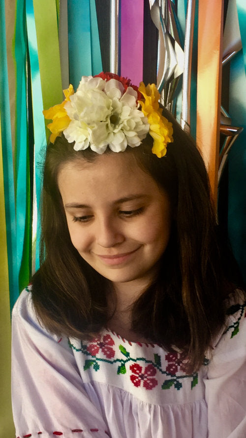 DIY Flower Crowns for Fiesta