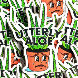 Utterly Aloe Vinyl Sticker