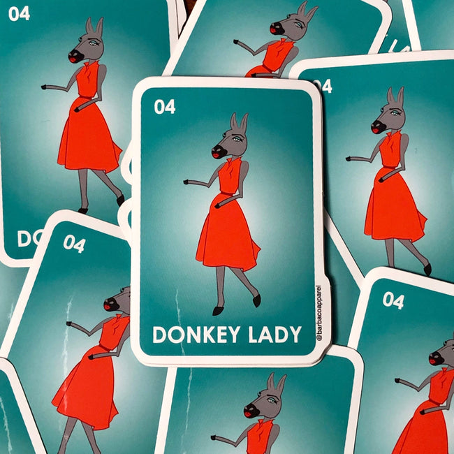 Donkey Lady Vinyl Sticker