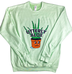 Utterly Aloe Fleece Crew Sweatshirt