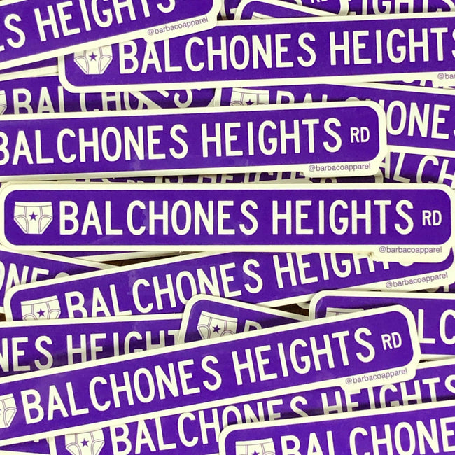 BarbacoApparel Balchones Heights Vinyl Sticker
