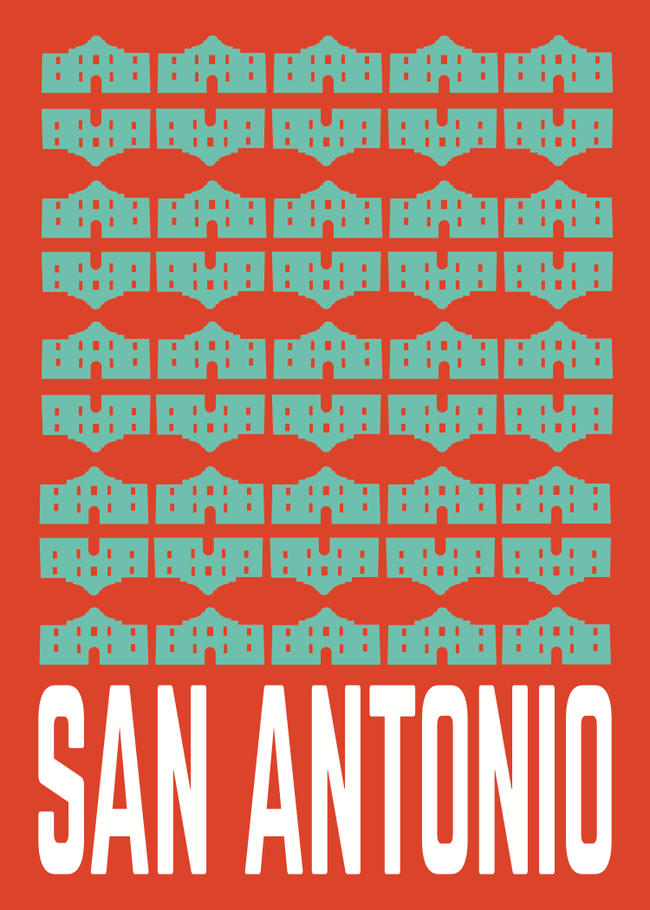 San Antonio Post Card